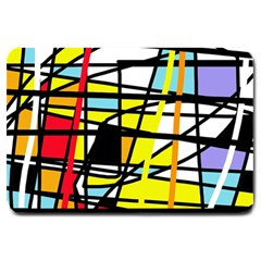 Casual Abstraction Large Doormat  by Valentinaart