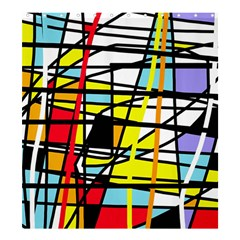 Casual Abstraction Shower Curtain 66  X 72  (large)  by Valentinaart