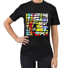 Casual Abstraction Women s T Shirt (black)