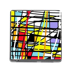 Casual Abstraction Memory Card Reader (square) by Valentinaart