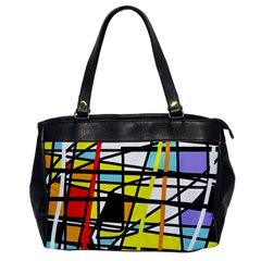 Casual Abstraction Office Handbags by Valentinaart