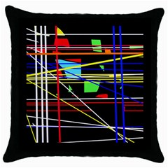 No Limit Throw Pillow Case (black) by Valentinaart