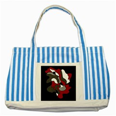 Creative Spot   Red Striped Blue Tote Bag by Valentinaart