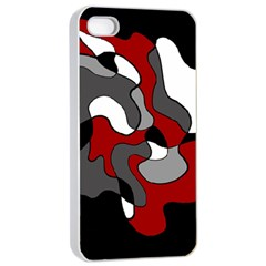 Creative Spot   Red Apple Iphone 4/4s Seamless Case (white) by Valentinaart