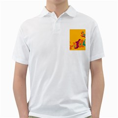 Colorful Creativity Golf Shirts by Valentinaart