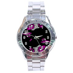 Magenta Creativity  Stainless Steel Analogue Watch by Valentinaart