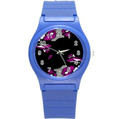 Magenta Creativity  Round Plastic Sport Watch (s) by Valentinaart