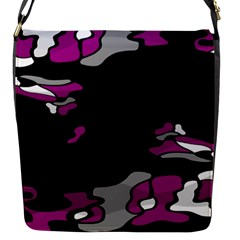 Magenta Creativity  Flap Messenger Bag (s) by Valentinaart