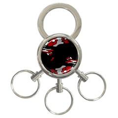 Red Creativity 3 Ring Key Chains by Valentinaart