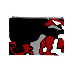 Red Creativity 2 Cosmetic Bag (large)  by Valentinaart