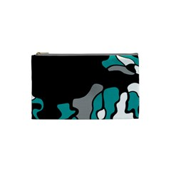 Cyan Creativity 2 Cosmetic Bag (small)  by Valentinaart
