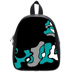 Cyan Creativity 2 School Bags (small)  by Valentinaart
