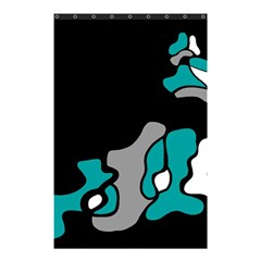 Cyan Creativity 2 Shower Curtain 48  X 72  (small)  by Valentinaart