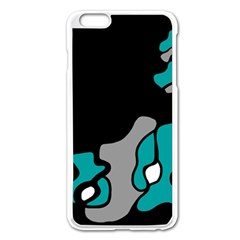 Cyan Creativity 2 Apple Iphone 6 Plus/6s Plus Enamel White Case by Valentinaart