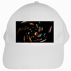 Colorful Twist White Cap by Valentinaart