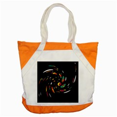 Colorful Twist Accent Tote Bag by Valentinaart