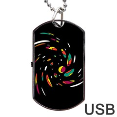 Colorful Twist Dog Tag Usb Flash (one Side) by Valentinaart