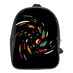Colorful Twist School Bags (xl)  by Valentinaart