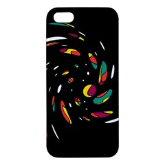 Colorful Twist Apple Iphone 5 Premium Hardshell Case by Valentinaart