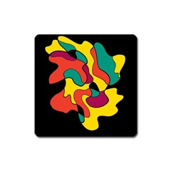 Colorful Spot Square Magnet by Valentinaart