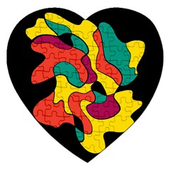 Colorful Spot Jigsaw Puzzle (heart) by Valentinaart