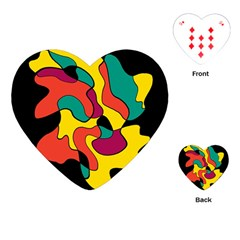Colorful Spot Playing Cards (heart)  by Valentinaart
