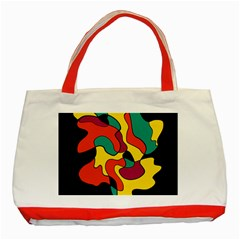 Colorful Spot Classic Tote Bag (red) by Valentinaart