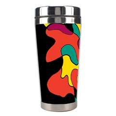 Colorful Spot Stainless Steel Travel Tumblers by Valentinaart