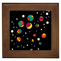 Colorful Dots Framed Tiles by Valentinaart