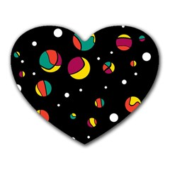 Colorful Dots Heart Mousepads by Valentinaart