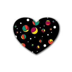 Colorful Dots Heart Coaster (4 Pack)  by Valentinaart