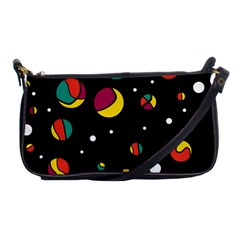Colorful Dots Shoulder Clutch Bags by Valentinaart