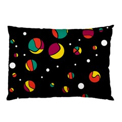Colorful Dots Pillow Case (two Sides) by Valentinaart
