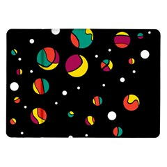 Colorful Dots Samsung Galaxy Tab 10 1  P7500 Flip Case by Valentinaart