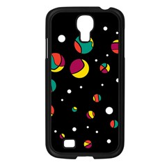 Colorful Dots Samsung Galaxy S4 I9500/ I9505 Case (black) by Valentinaart