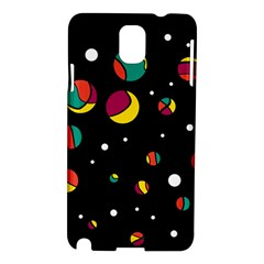 Colorful Dots Samsung Galaxy Note 3 N9005 Hardshell Case by Valentinaart