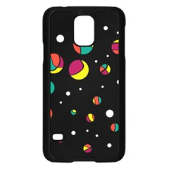 Colorful Dots Samsung Galaxy S5 Case (black) by Valentinaart