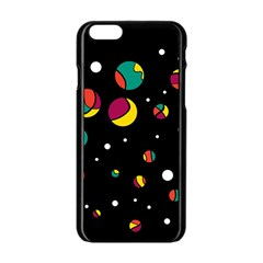 Colorful Dots Apple Iphone 6/6s Black Enamel Case by Valentinaart