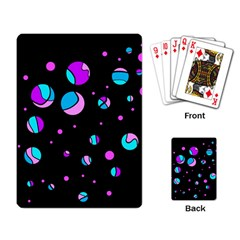 Blue And Purple Dots Playing Card by Valentinaart
