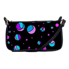 Blue And Purple Dots Shoulder Clutch Bags by Valentinaart