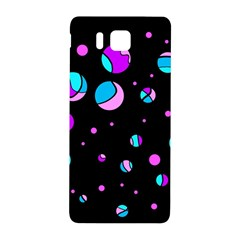 Blue And Purple Dots Samsung Galaxy Alpha Hardshell Back Case