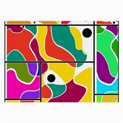 Colorful Windows  Large Glasses Cloth by Valentinaart