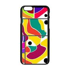 Colorful Windows  Apple Iphone 6/6s Black Enamel Case
