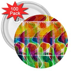 Abstract Sunrise 3  Buttons (100 Pack)  by Valentinaart