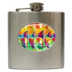 Abstract Sunrise Hip Flask (6 Oz) by Valentinaart