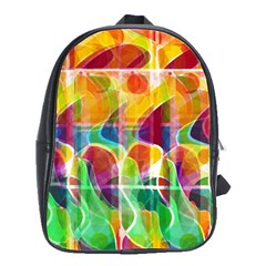 Abstract Sunrise School Bags(large)  by Valentinaart