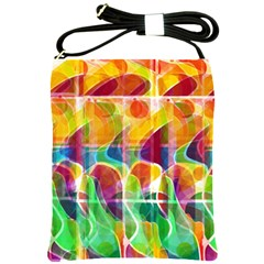 Abstract Sunrise Shoulder Sling Bags