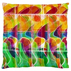 Abstract Sunrise Standard Flano Cushion Case (one Side)
