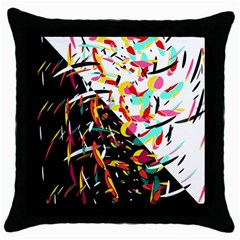 Little Things  Throw Pillow Case (black) by Valentinaart