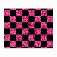 Square1 Black Marble & Pink Marble Small Glasses Cloth by trendistuff